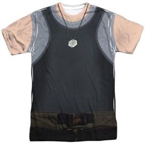 Authentic-Battlestar-Galactica-Canotta-Uniforme-Costume-ricoperta-ANTERIORE-T-shirt