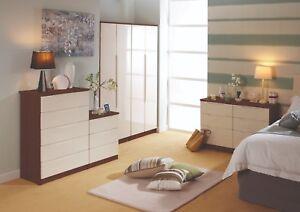 Terrific Details About Charleston White Tuscany Walnut Drawers Set Ready Assembled Bedroom Furniture Uk Download Free Architecture Designs Rallybritishbridgeorg