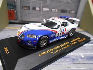 DODGE Chrysler Viper GTS R Le Mans 1998 #51 Lamy Beretta Archer Mobil1 IXO 1:43