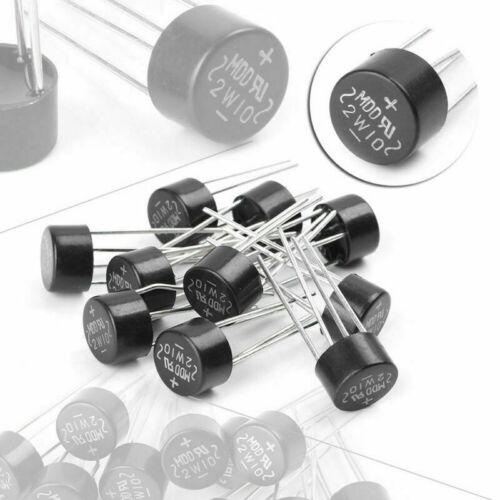 10pcs 2W 1000V 2A Bridge Diode Rectifier Electronic Components DIY Tools Kit