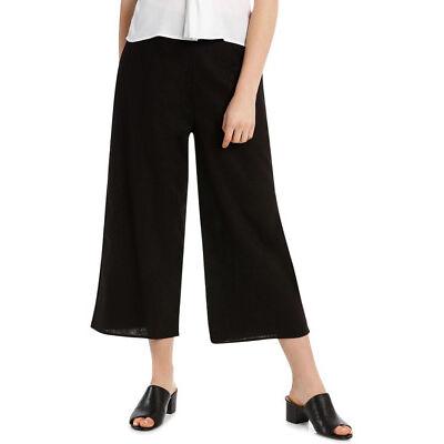 NEW Tokito Petites Wide Leg Linen Culotte - Black
