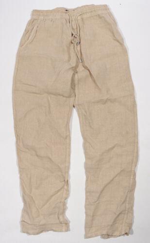 Vilebrequin Mens Linen Pants Tan Khaki Size  Large