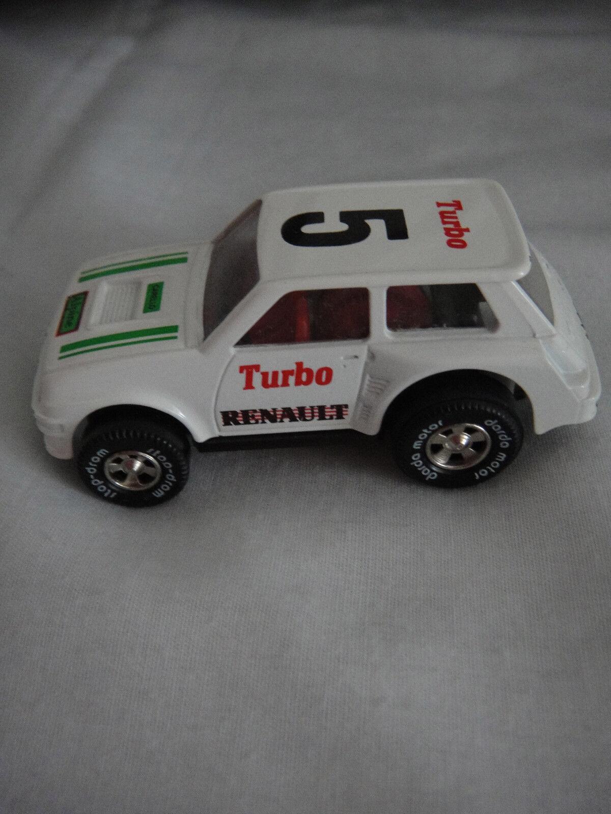 Darda Fahrzeug made in W. Germany   DieCast RENAULT Turbo Weiß Nr. 5