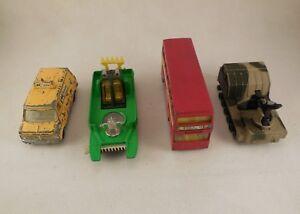Vintage-1970s-Corgi-Matchbox-Dinky-Modelos-Coleccionable-Conjunto-de-4