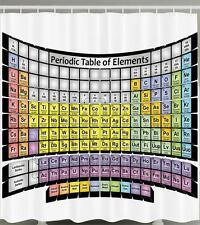 PERIODIC TABLE OF ELEMENTS SCIENTIFIC SYMBOLS CHEMISTRY SCIENCE Shower Curtain