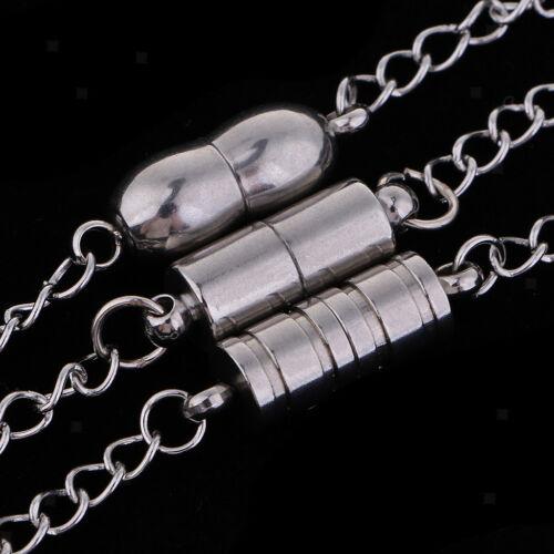3pcs Edelstahl Magnetverschlüsse mit Verlängerungskette Schmuckzubehör