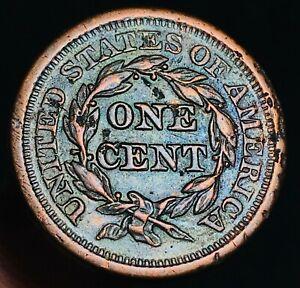 1851-Large-Cent-Matron-Braided-Hair-1C-High-Grade-Details-Sharp-US-Coin-CC4425
