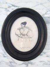 Cadre en bois noirci d'époque Napoléon III 19ème Cadre photo peinture 19ème