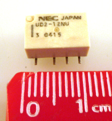 NEC Relay UD2-12NU 12V Coil 2 Pole Double Throw OM0341A