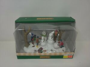 Lemax -Building a Family of Snowmen -Holiday Village Accent-retired New