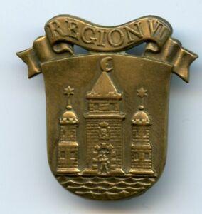 Denmark-Home-Guard-Insignia-Collar-Badge-Region-IV