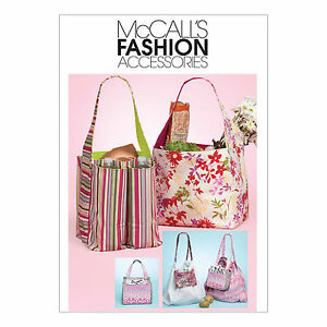 McCall-039-s-6297-Sewing-Pattern-to-MAKE-Shopping-Totes-Bottle-Carrier-amp-Mini-Bag
