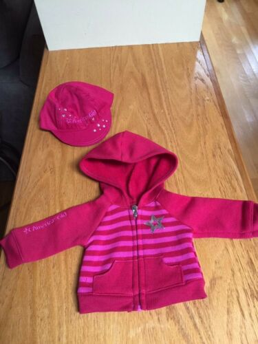 American Girl Zippered Hoodie /& Sparkle Hat NEW !!!!!!