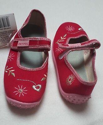 Glitzer Textil Klettverschluss NEU SUPERFIT Schuhe Hausschuhe lila MAGIC
