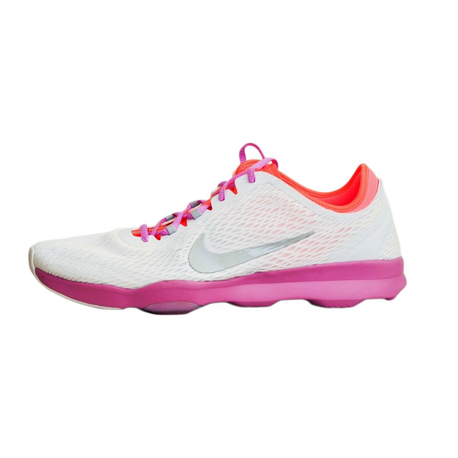 82c6aa8b7289 Nike Zoom Fit Fit Fit Training Sneakers Women s size 9.5 B NEW White  Fuchsia Hot Lava