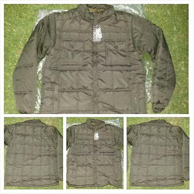 Mens Olive Bubble Jacket Black Long Sleeve Puffer Jacket Winter Jacket S-3X