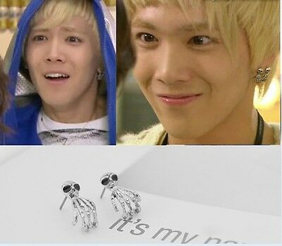 Korean Drama You're Beautiful FTisland Honggi Finger Earrings + Gift Box