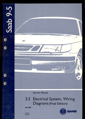 M1999 Saab 9 5 Electrical System Wiring Diagram Service Manual 388835 Ebay