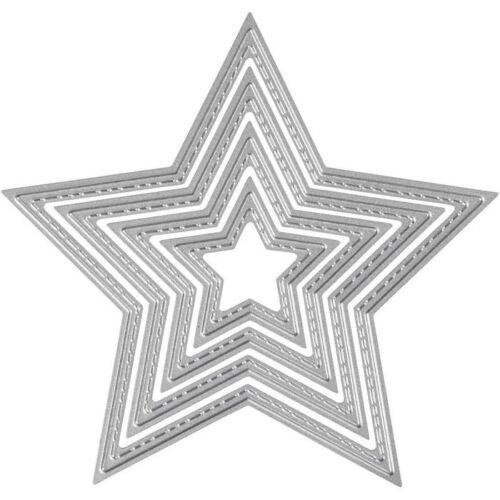 Größe 4,5-12 cm Stern 1Stck NEU Stanzform