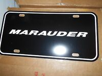 2003 2004 Mercury Marauder License Plate Black