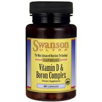 Swanson Vitamin D & Boron 60 Caps on sale