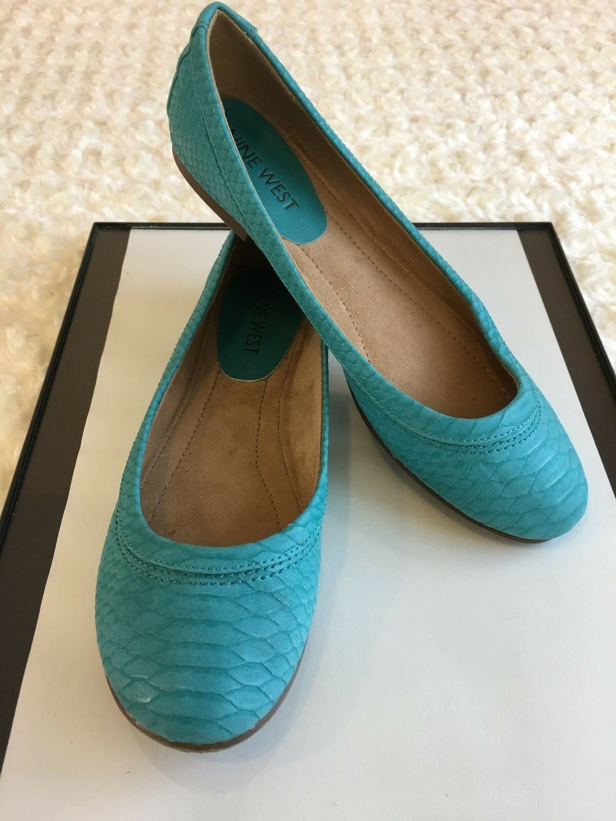 NINE WEST Women Flat shoes Career Size 5M Aqua Sip On Ballerina Casuals Shift