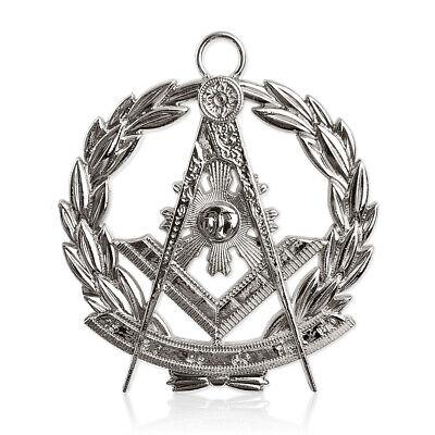 Past Master Silver Jewel with Chain Masonic Collar Regalia