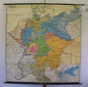 Map Of Germany 1815.Schulwandkarte School Map Germany 1815 1918 Einigung 190x198 1966
