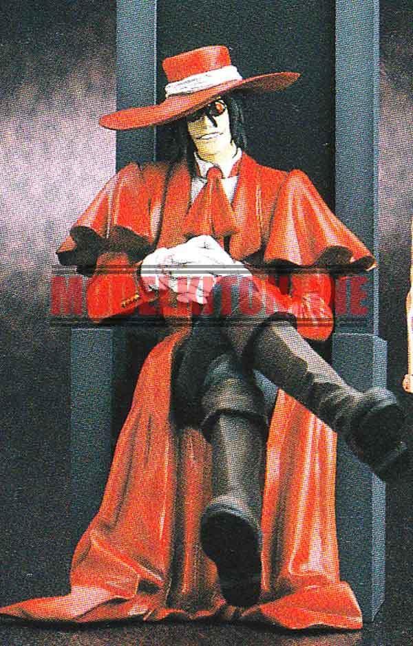 ALUCARD HELLSING SITTING ON THRONE UNPAINTED RESIN FIGURE MODEL KIT