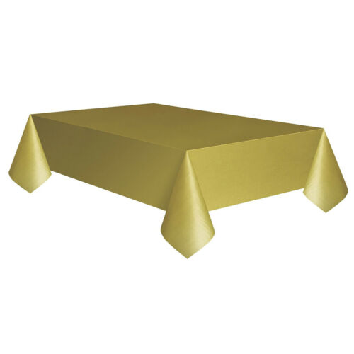 Allgala 12-Pack Premium Plastic Table Cover Rectangle 54x108 Inch Tablecloth