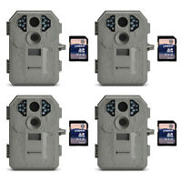 Stealth Cam P12 6mp Scouting Game Trail Camera, 4 Pack + 8gb Sd Card, 4 Pack