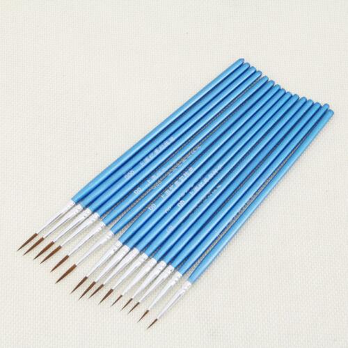 10pcs//Set Paint Brush Set New Nylon Blue Brush Kid Watercolor Drawing Painting