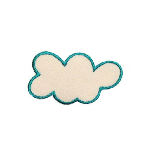 ID 1111B Lumpy Cloud Patch Sky Cloudy Day Shape Embroidered Iron On Applique