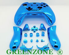 Blue Chrome Xbox One Replacement Custom Controller Shell with Buttons Mod Kit
