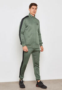 find workmanship great deals 2017 extremely unique Details about PUMA Men's Fashion Sports Jacket +Jogging Pants Green Classic  T7 Tracksuit 2pc