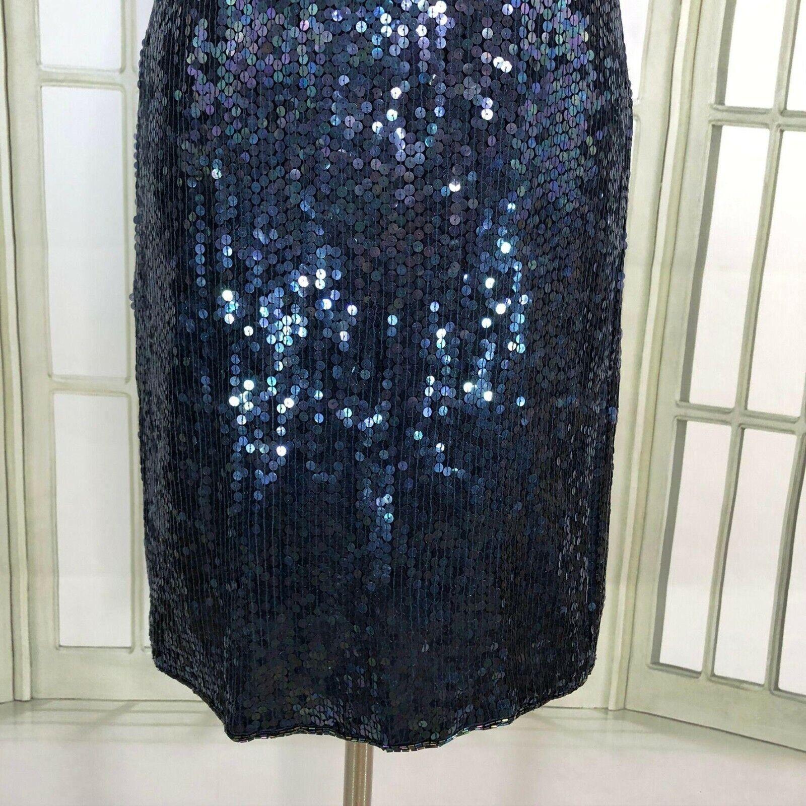 Jewel Queen Sequin Sheath Dress V Neck Size Mediu… - image 6