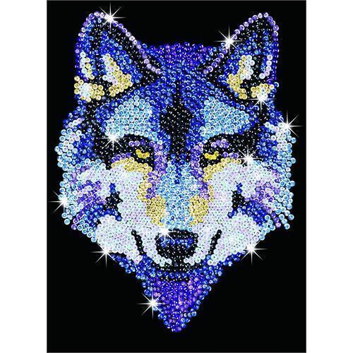 Sequin Art Wolf Craft Kit 1215 FREE POSTAGE