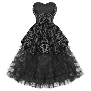 7211e1cf1a72 Hell Bunny Lavintage Black Gothic Damask Steampunk Victorian Wedding ...