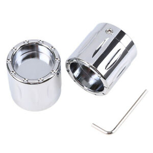 Pair Chrome Aluminum Front Axle Nut Cover Bolt for Harley Touring FLHX FLHR FLTR