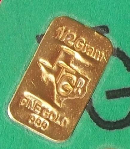 GOLD 1//2 GRAM GR G 24K PURE TGR PREMIUM BULLION BAR 999 FINE CERTIFIED BAR