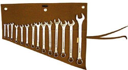 14 Roll Up Pocket Storage Organizer Wrench Tool Pouch Mechanics Garage Work Wrap