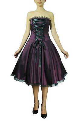 plus size black purple goth corset strapless satin ribbon