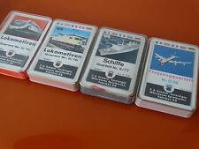 4 Schmid Quartett 70er Nr II/78 II/77 II/76 Flugzeug Schiffe Lokomotiven rare