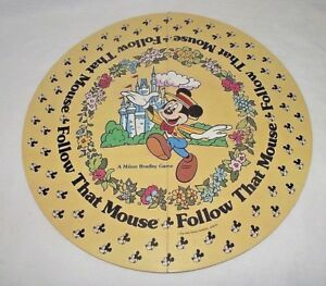 Follow-that-Mouse-Game-Replacements-Board-Disney-World-Mickey-Mouse-1986-Round