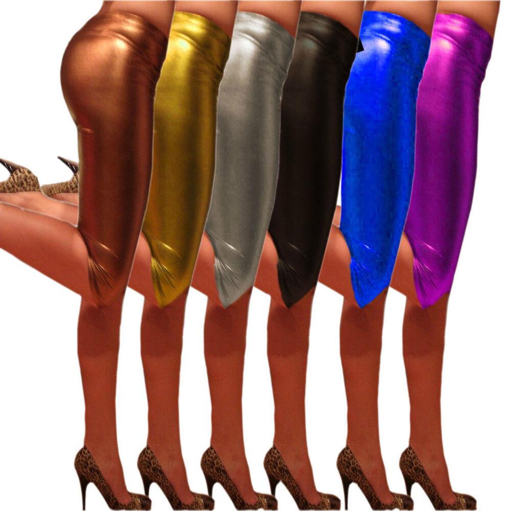 1 Pièces Legging Damenlegging simili cuir noir taille XS 32//34 Leggings