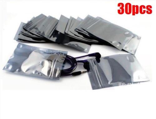 30Pcs 50X90MM 40X70MM Esd Anti-Static Shielding Zip Lock Bags vl