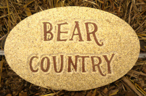 """Bear casting mold Concrete plastic mold /""""bear country/"""" mould"""