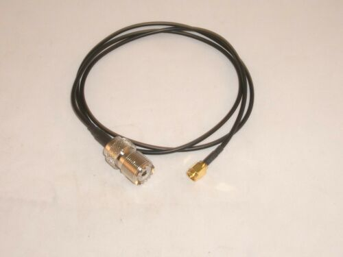 MGS 7828-CBL-36 3 FT UHF FEMALE SO-239 TO SMA MALE JUMPER COAX CABLE RG-174