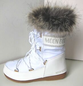 sports shoes eac9c b6878 Details about Tecnica MOON BOOT Monaco low weiß 39 Moon Boots white  Kunstfell Fell fake fur