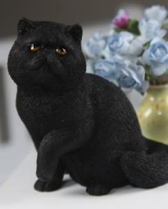 Black Garfield Cat Hand Painted Resin Figurine Statue Ebay